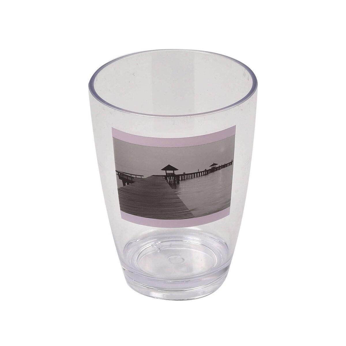 Evideco Seaside Clear Acrylic Printed Tumbler Wayfair