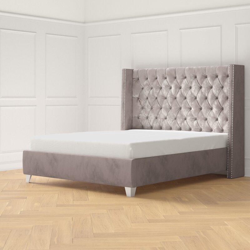 Dash Tufted Upholstered Low Profile Platform Bed Reviews Joss Main