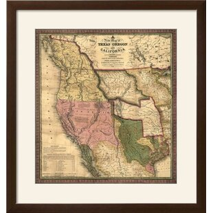 Vintage Map Framed Wayfair - Vintage texas map framed
