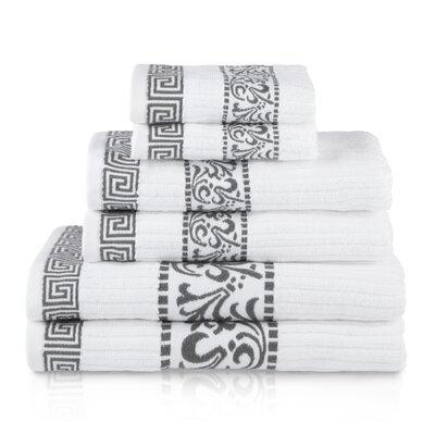 House of Hampton Smithton 6 Piece 100% Cotton Towel Set Color: Gray