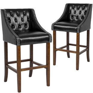 Beau 30 Bar Stool (Set of 2) Alcott Hill