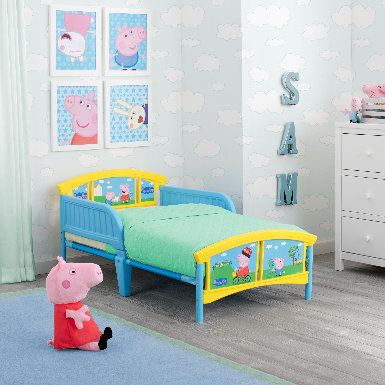 Magnificent Peppa Pig Plastic Toddler Platform Bed Interior Design Ideas Tzicisoteloinfo