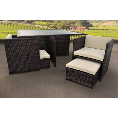 Solis Patio Stella 9 Piece Dining Set with Cushions