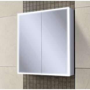 Qubic Surface Mount Medicine Cabinet With Lighting By HIB