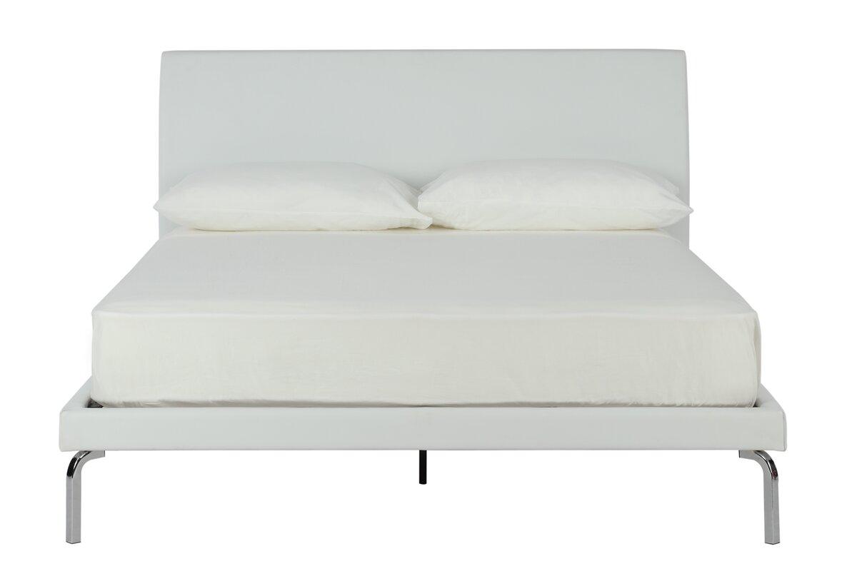 drew queen upholstered platform bed