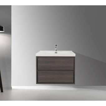 Orren Ellis Margret 24 Wall Mounted Single Bathroom Vanity Set Reviews Wayfair