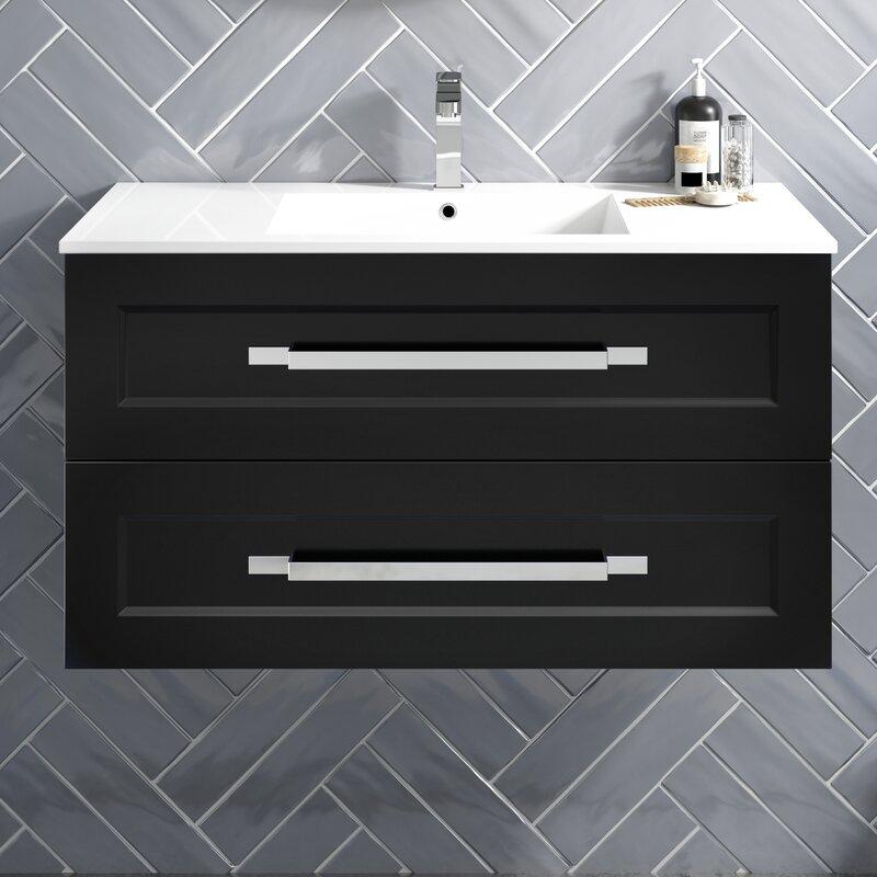 Latitude Run Katrena 30 Wall Mounted Single Bathroom Vanity Set Reviews Wayfair