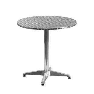 Ebern Designs Tiberius Round Indoor Outdoor Aluminum Bistro Table