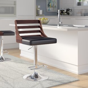 Bridges Adjustable Height Swivel Bar Stool Wade Logan