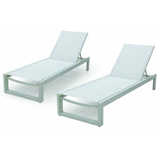 Branchville Premium Outdoor Reclining Chaise Lounge (Set Of 2) by Wade Logan 2019 Online