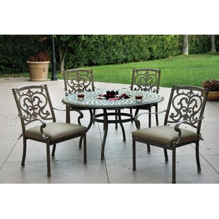 Palazzo Sasso Traditional 5 Piece Dining Set with Cushions