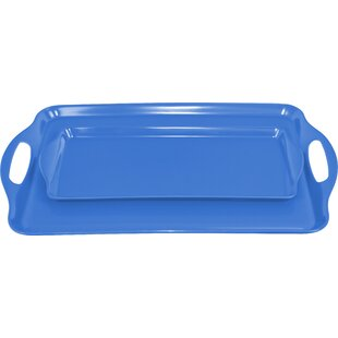 Trevin 2 Piece Melamine Tray Set
