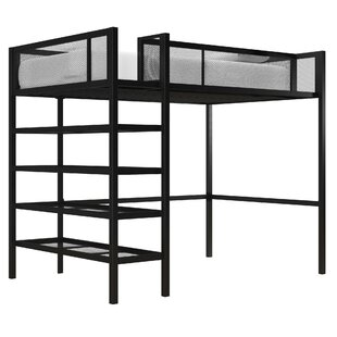 Debbi Twin Loft Bed with Bookcase by
