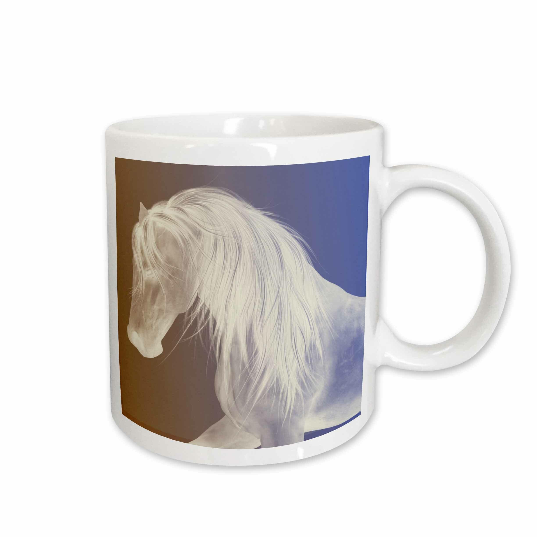 East Urban Home Beautiful Horse Face With Gradient Coffee Mug Wayfair