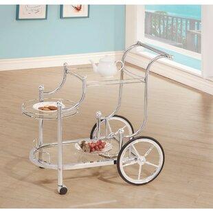 Kimpel Elegant Metal Frame Bar Carts by Winston Porter