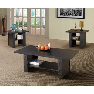 Union Rustic Pavon Bewildering Rich 3 Piece Coffee Table Set