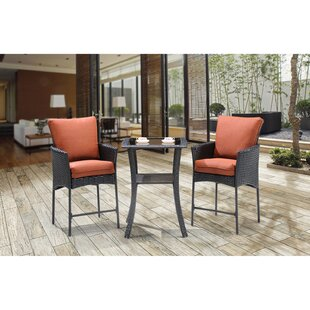 Brayden Studio Billington 3 Piece Bar Table Set with Cushions
