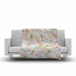 Reviews Mmartabc Tropical Fruit Animals Illustration Fleece Blanket ByEast Urban Home