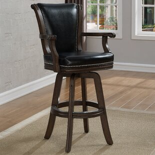 Eldridge Swivel Bar Stool With Cushion by DarHome Co Best #1