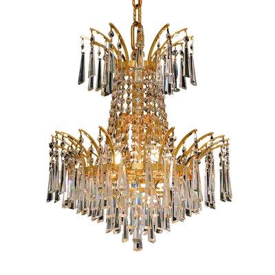 Phyllida 4 Light Empire Chandelier Everly Quinn Finish Chrome Crystal Trim Elegant Cut