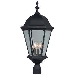 Charlton Home Oakhill 3-Light Matte Black Aluminum Lantern Head