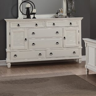 Stratford 6 Drawer Combo Dresser by Highland Dunes Read Reviews