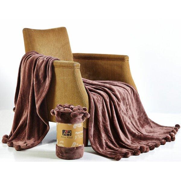 Taupe Moroccan POM POM throw and blanket,bohemian decor bedcover blanket sofa pom pom blanket,HANDWOVEN pom pom blankets