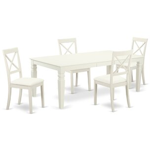 Beesley 5 Piece Solid Wood Dining Set by ..