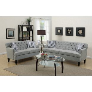 Kamila 2 Piece Living Room Set by Winston Porter
