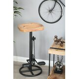 Atalla Industrial Pedal and Gears 32 Bar Stool by 17 Stories