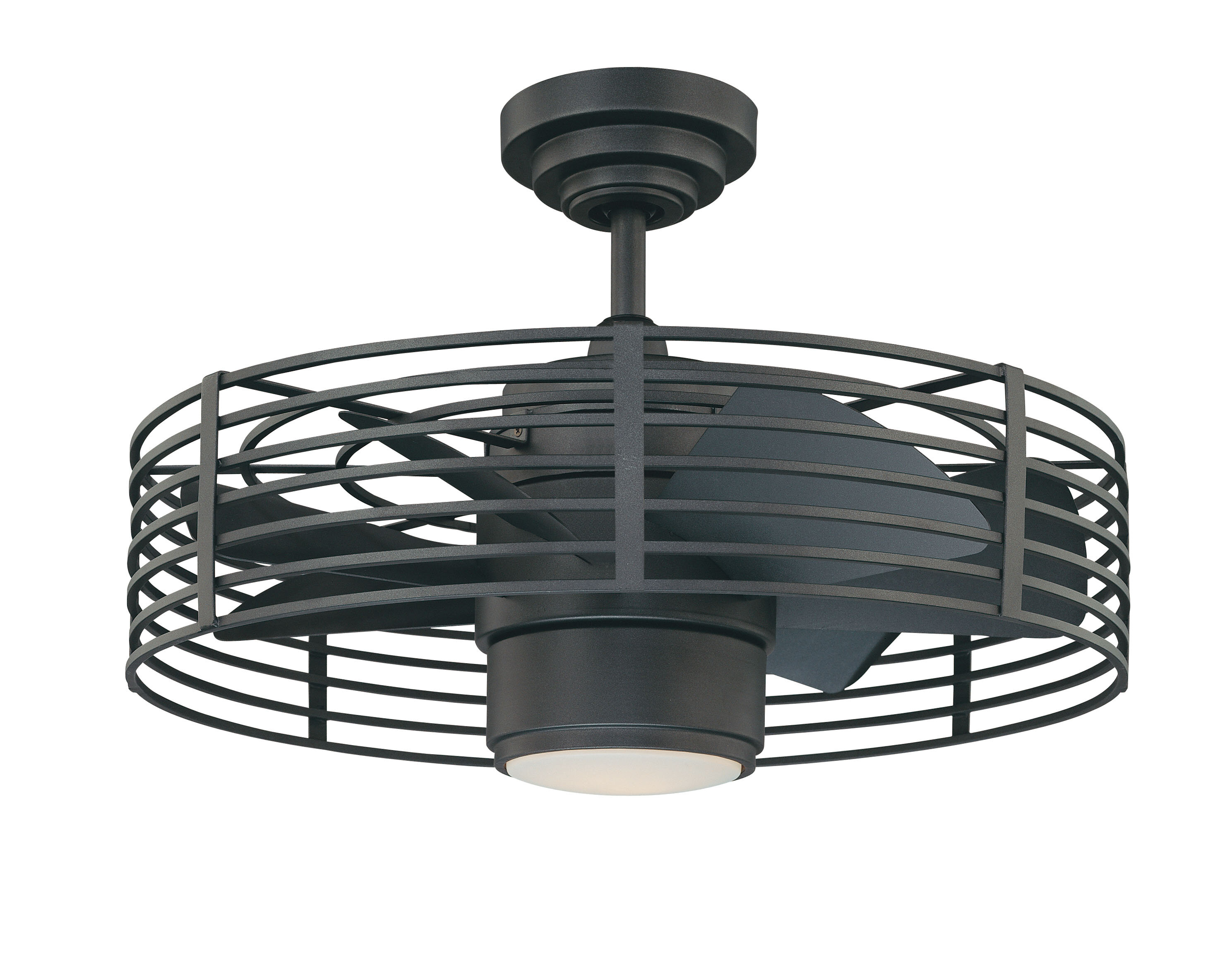 Birch Lane 23 Flara 7 Blade Caged Ceiling Fan With Remote Control And Light Kit Included Reviews Wayfair