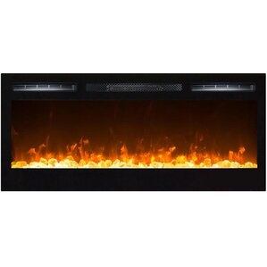 Madison Crystal Wall Mount Electric Fireplac..