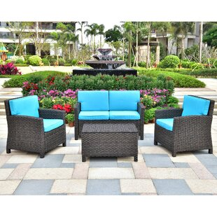 Woodacre 4 Piece Sofa Seating Group with Cushions