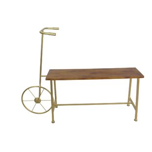 Sagebrook Home Bicycle Wood and Metal Bench