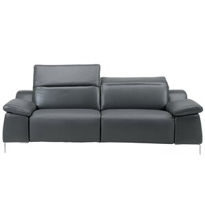 Bellini Modern Living Sofia Electric Motion Leather Reclining Loveseat