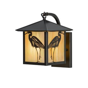 Top Reviews Greenbriar Oak 1-Light Outdoor Wall Lantern By Meyda Tiffany