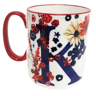 Erwin Floral 'K' Initial Coffee Mug