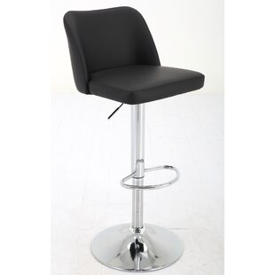 Orren Ellis Elster Adjustable Height Swivel Bar Stool
