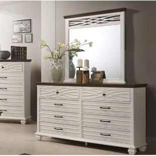 Gracie Oaks Octavius 8 Drawer Double Dresser with Mirror