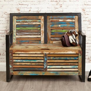 Tejas Wood Storage Hallway Bench By World Menagerie