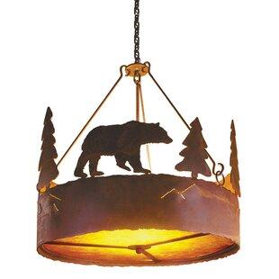 Steel Partners Bear 3-Light Chandelier