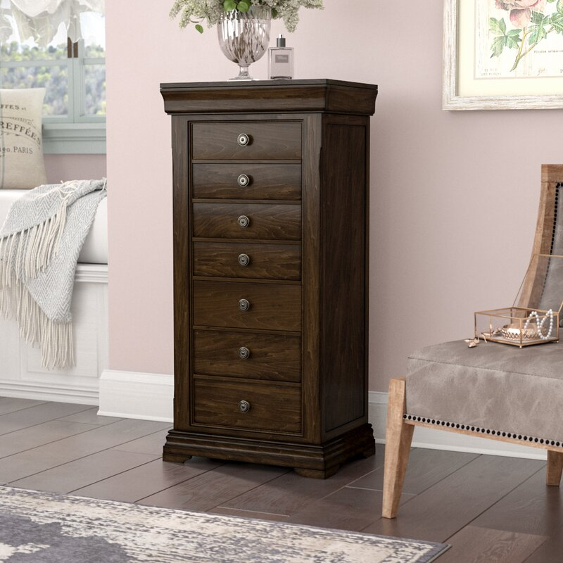 One Allium Way Galiena Wood Jewelry Armoire with Mirror Reviews