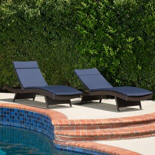 Cara IndoorOutdoor Chaise Lounge Cushion (Set of 2)