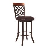 Lincoln Bar & Counter Swivel Stool by Alcott Hill®