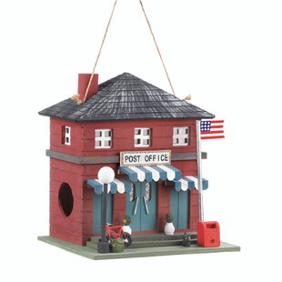 Zingz & Thingz Post Office 10 in x 9 in x 7.5 in Birdhouse