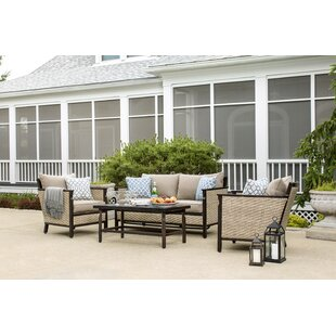 Colton 4 Piece Sunbrella Sofa Seating Group with Cushions
