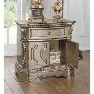 Swinehart Wood Top 1 Drawer Nightstand by Astoria Grand
