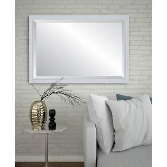 Amanti Art Highland Park Traditional Beveled Distressed Wall Mirror Reviews