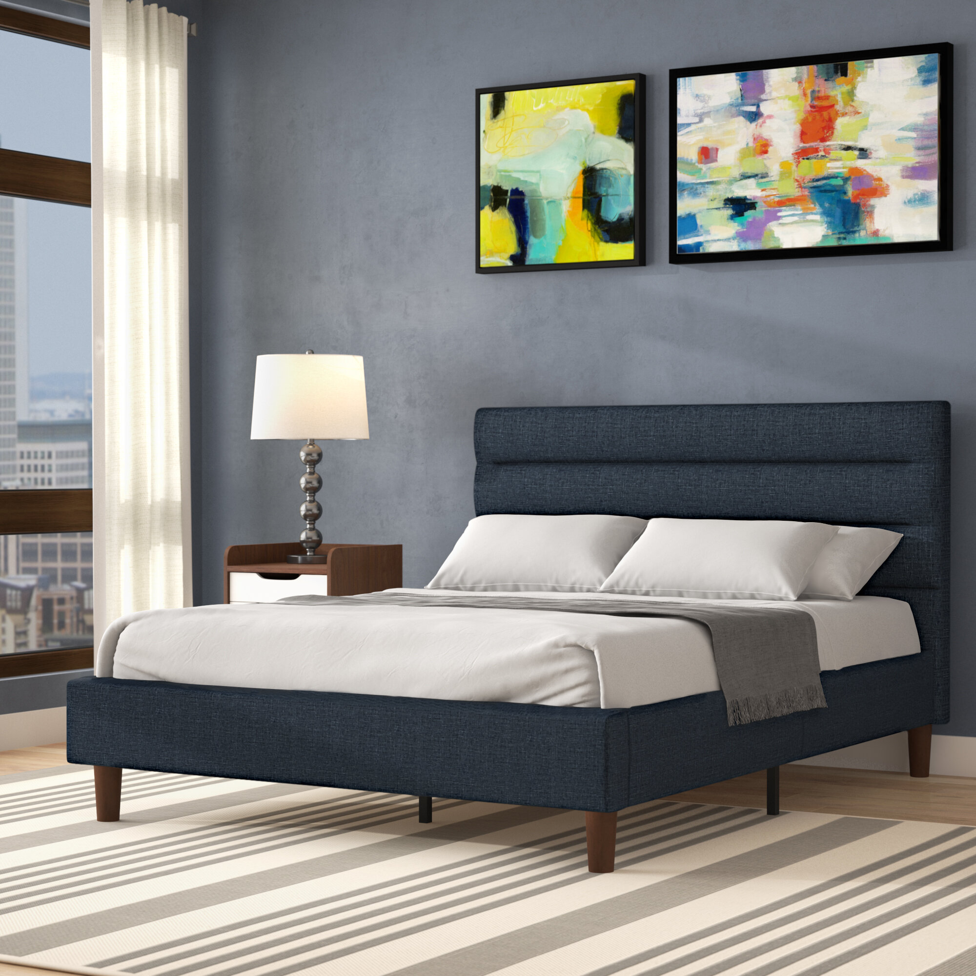 Blue Metal Beds You Ll Love In 2021 Wayfair
