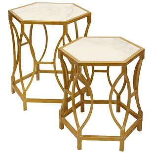 Everly Quinn Maynard Shaped 2 Piece Nesting Tables